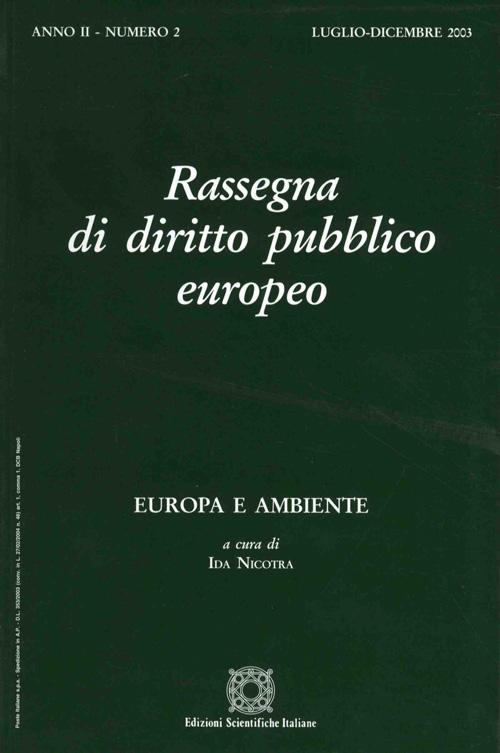 Rassegna di diritto pubblico europeo