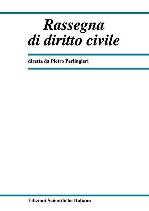 Rassegna di Diritto Civile 2000