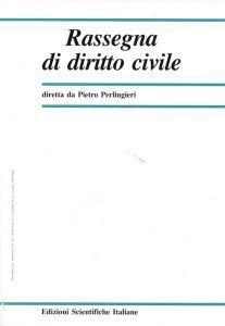 Rassegna di Diritto Civile 2001