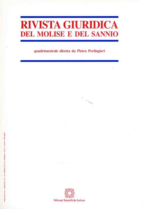 Rivista Giuridica del Molise e del Sannio 2001