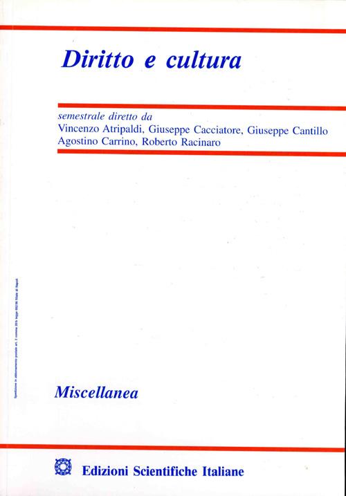 Diritto e Cultura 2001