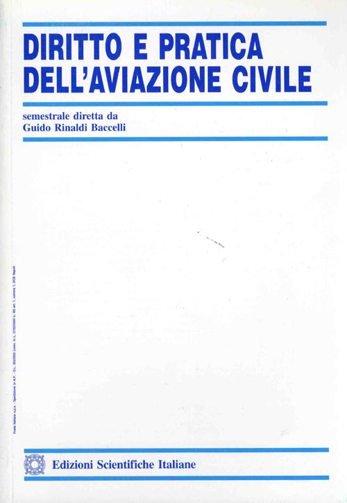 Diritto e Pratica dell'Aviaz. Civ. 2001