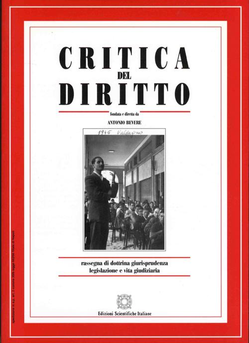 Critica del Diritto 2001