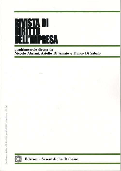Rivista di Diritto dell'Impresa 2002