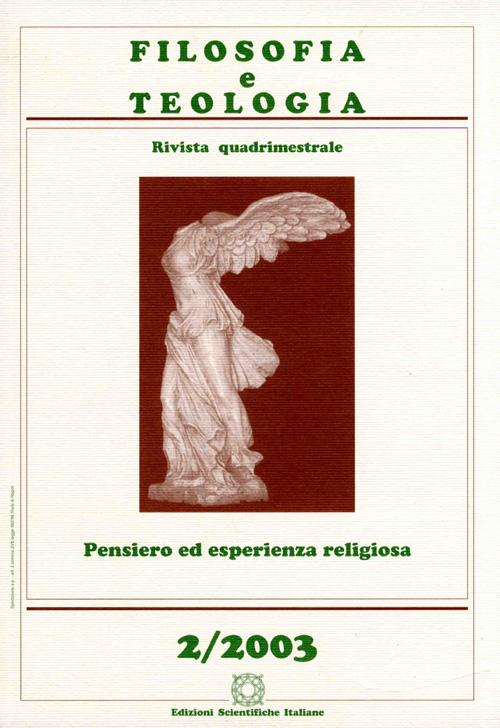 Filosofia e Teologia 2002