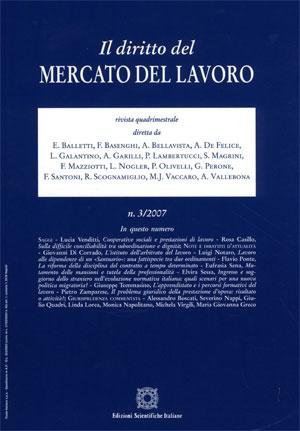 Diritto del Mercato del Lavoro 2007