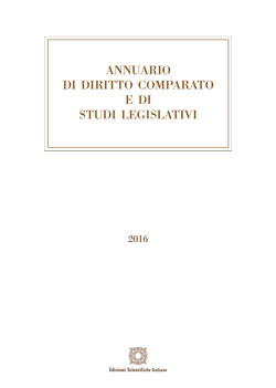 Annuario di diritto comparato e studi legislativi 2016