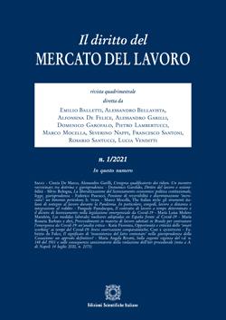 Diritto del mercato del lavoro 2021